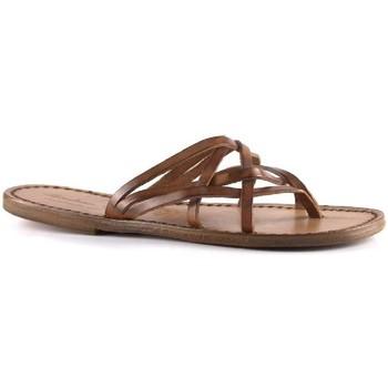 Pantofi Femei Papuci de vară Gianluca - L'artigiano Del Cuoio 543 D CUOIO CUOIO Cuoio