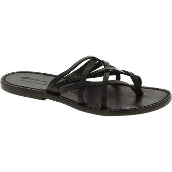 Pantofi Femei Sandale  Gianluca - L'artigiano Del Cuoio 543 D NERO CUOIO nero