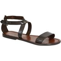 Pantofi Femei Sandale  Gianluca - L'artigiano Del Cuoio 509 D MORO CUOIO Testa di Moro