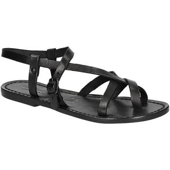 Pantofi Femei Sandale  Gianluca - L'artigiano Del Cuoio 530 D NERO CUOIO nero