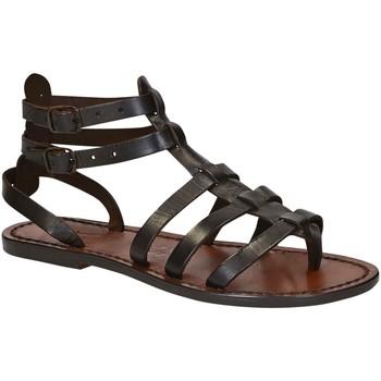 Pantofi Femei Sandale  Gianluca - L'artigiano Del Cuoio 506 D MORO CUOIO Testa di Moro