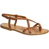 Pantofi Femei Sandale  Gianluca - L'artigiano Del Cuoio 537 D CUOIO CUOIO Cuoio