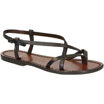 Pantofi Femei Sandale  Gianluca - L'artigiano Del Cuoio 537 D MORO CUOIO Testa di Moro