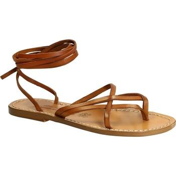 Pantofi Femei Sandale  Gianluca - L'artigiano Del Cuoio 514 D CUOIO CUOIO Cuoio
