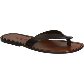 Pantofi Bărbați  Flip-Flops Gianluca - L'artigiano Del Cuoio 541 U MORO CUOIO Testa di Moro