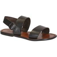 Pantofi Femei Sandale  Gianluca - L'artigiano Del Cuoio 500 D MORO CUOIO Testa di Moro