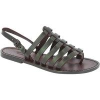 Pantofi Femei Sandale  Gianluca - L'artigiano Del Cuoio 576 D MORO CUOIO Testa di Moro