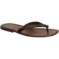 Pantofi Bărbați  Flip-Flops Gianluca - L'artigiano Del Cuoio 540 U MORO CUOIO Testa di Moro