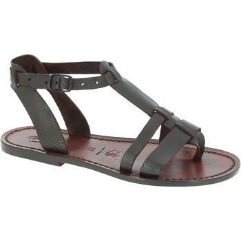 Pantofi Femei Sandale  Gianluca - L'artigiano Del Cuoio 572 D MORO CUOIO Testa di Moro