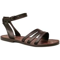 Pantofi Femei Sandale  Gianluca - L'artigiano Del Cuoio 583 D MORO CUOIO Testa di Moro