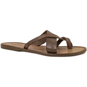 Pantofi Femei Sandale  Gianluca - L'artigiano Del Cuoio 545 D FANGO CUOIO Fango