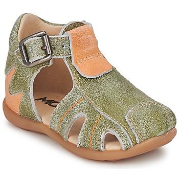 Pantofi Băieți Sandale și Sandale cu talpă  joasă Mod'8 ALUCINE Verde / Portocaliu