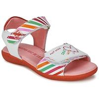 Pantofi Fete Sandale  Agatha Ruiz de la Prada CAZOLETA Alb / Multicolor