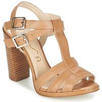 Pantofi Femei Sandale și Sandale cu talpă  joasă Unisa YUM Bej
