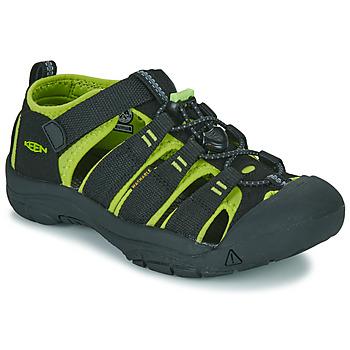 Pantofi Băieți Sandale sport Keen KIDS NEWPORT H2 Negru / Verde