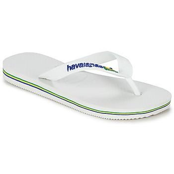 Pantofi Copii  Flip-Flops Havaianas BRASIL LOGO Alb
