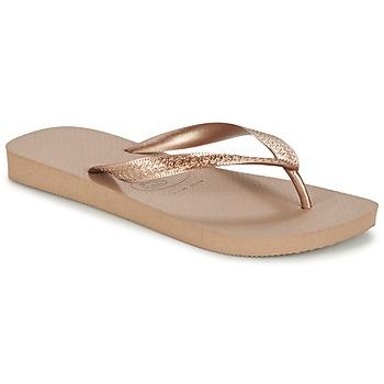 Pantofi Femei  Flip-Flops Havaianas TOP METALLIC Roz / Auriu