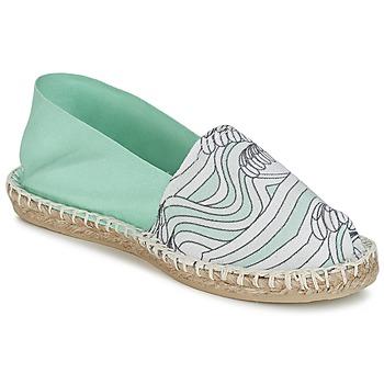 Pantofi Femei Espadrile 1789 Cala CLASSIQUE IMPRIMEE Apa / Alb