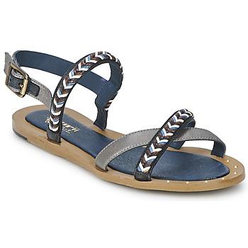 Pantofi Femei Sandale și Sandale cu talpă  joasă Schmoove MEMORY LINK Argintiu / Bleumarin