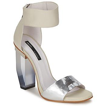 Pantofi Femei Sandale și Sandale cu talpă  joasă Miista JAYDA Alb / Argintiu