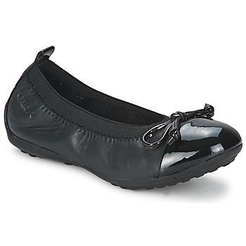 Pantofi Fete Balerin și Balerini cu curea Geox PIUMA BALLERINE Negru
