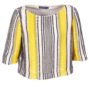 Îmbracaminte Femei Topuri și Bluze Antik Batik ZABOU Galben / Alb / Negru