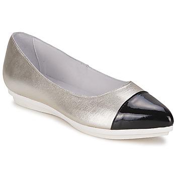 Pantofi Femei Balerin și Balerini cu curea Alba Moda DRINITE Argintiu / Negru