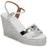 Pantofi Femei Sandale și Sandale cu talpă  joasă Castaner BESSIE Alb / Argintiu