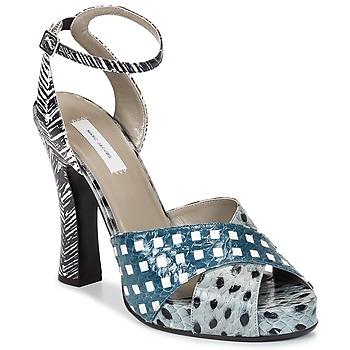 Încăltăminte Femei Sandale și Sandale cu talpă  joasă Marc Jacobs Elap Albastru / Alb