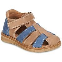 Încăltăminte Băieți Sandale și Sandale cu talpă  joasă Citrouille et Compagnie FRINOUI Maro / Albastru