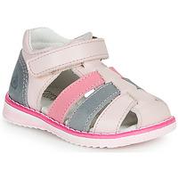 Pantofi Fete Sandale  Citrouille et Compagnie FRINOUI Roz / Albastru / LuminoasĂ / Fucsia