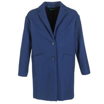 Îmbracaminte Femei Paltoane Benetton AGRETE Bleumarin