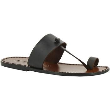 Pantofi Femei Papuci de vară Gianluca - L'artigiano Del Cuoio 554 U MORO CUOIO Testa di Moro