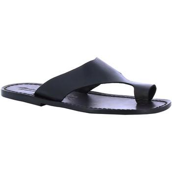 Pantofi Bărbați Șlapi Gianluca - L'artigiano Del Cuoio 521 U NERO CUOIO nero