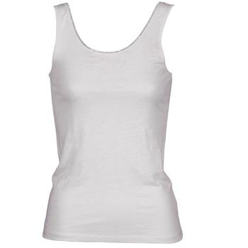 Îmbracaminte Femei Maiouri și Tricouri fără mânecă Majestic 701 Alb