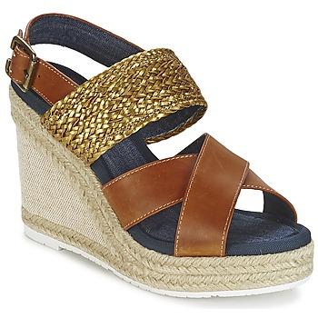Pantofi Femei Sandale și Sandale cu talpă  joasă Napapijri BELLE Camel / Auriu