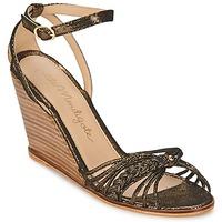 Pantofi Femei Sandale și Sandale cu talpă  joasă Petite Mendigote COLOMBE Negru / Auriu