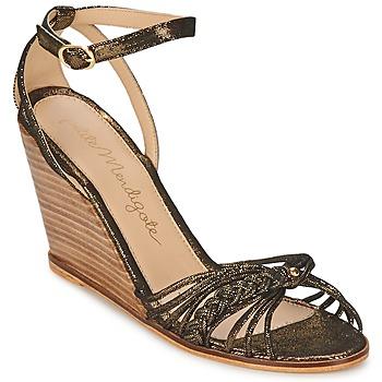 Încăltăminte Femei Sandale și Sandale cu talpă  joasă Petite Mendigote COLOMBE Negru / Auriu