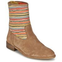 Pantofi Femei Ghete Goldmud COLON Taupe / Multicolor