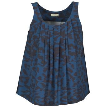 Îmbracaminte Femei Maiouri și Tricouri fără mânecă Lola CUBA Albastru / Negru