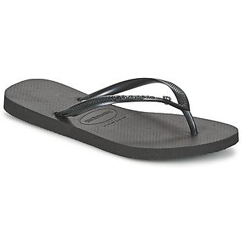 Pantofi Femei  Flip-Flops Havaianas SLIM CRYSTAL GLAMOUR SWAROVSKI Negru