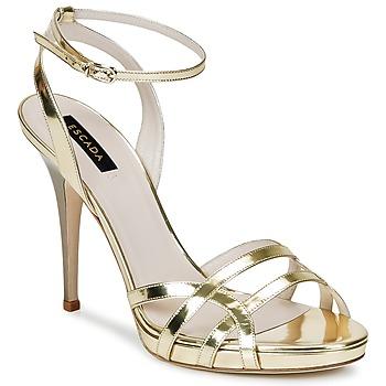 Pantofi Femei Sandale și Sandale cu talpă  joasă Escada AS683 Auriu