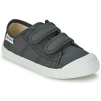 Pantofi Copii Pantofi sport Casual Victoria BLUCHER LONA DOS VELCROS Antracit