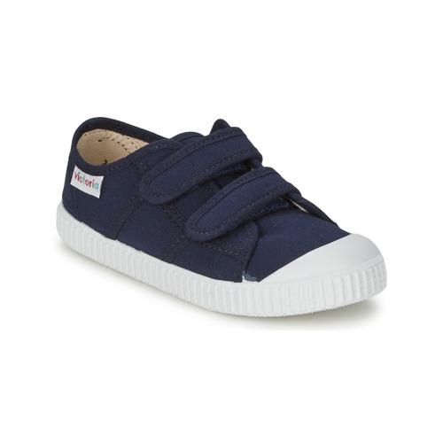 Pantofi Copii Pantofi sport Casual Victoria BLUCHER LONA DOS VELCROS Albastru