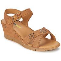 Încăltăminte Femei Sandale și Sandale cu talpă  joasă Manas  Camel