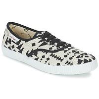 Încăltăminte Femei Pantofi sport Casual Victoria INGLES GEOMETRICO LUREX Bej / Negru