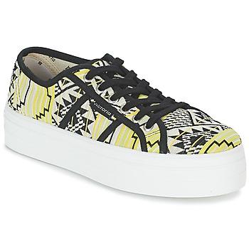 Încăltăminte Femei Pantofi sport Casual Victoria BASKET ETNICO PLATAFORMA Negru / Galben