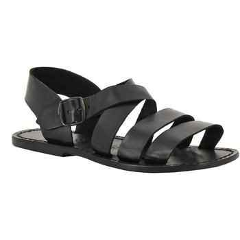Pantofi Femei Sandale  Gianluca - L'artigiano Del Cuoio 508 U NERO CUOIO nero