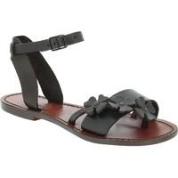 Pantofi Bărbați Sandale  Gianluca - L'artigiano Del Cuoio 593 D MORO CUOIO Testa di Moro