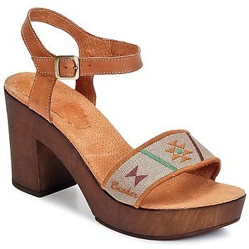 Încăltăminte Femei Sandale și Sandale cu talpă  joasă Bunker LUCY Maro / Taupe